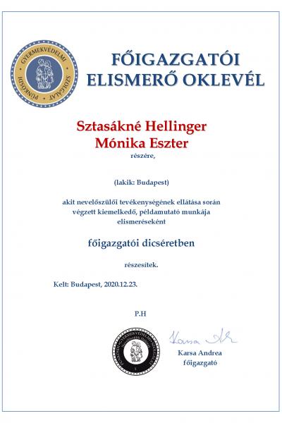 Sztasákné Hellinger Mónika Eszter